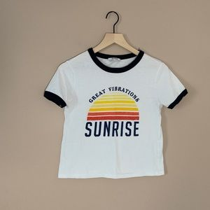 🌟ZARA Great Vibrations Sunrise T-Shirt
